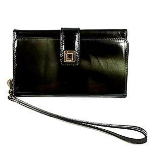 LODIS ITALIAN PATENT LEATHER WALLET